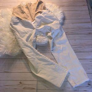 Liz Lange White Maternity Jeans